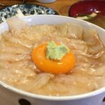 みなと食堂 - 平目漬け丼(ご飯少なめ)