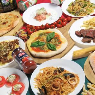 『イタリアン食べ飲み放題』+時間無制限