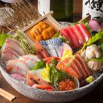北の味紀行と地酒 北海道 - 北海道大漁刺身盛り