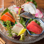 北の味紀行と地酒 北海道 - 北海道5種刺身盛り