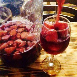 自家製サングリアワイン御座います♪