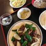 紅龍 - 牛肉の激辛炒め定食