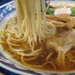 らーめん心繋 - ワンタンメンの麺