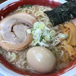 麺屋いたがき - 醤油らぁめん680円+大盛10円+味玉100円