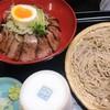 そば善 - 料理写真:もり蕎麦と黒毛和牛のローストビーフ丼(中)セット