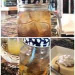 爬虫類喫茶 アゲイン - 飲み物に巻きつく