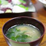 舟勝 - あさりとわかめの味噌汁
