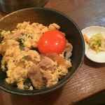 麺屋 はなぶさ - 数量限定の国産地鶏親子丼(250円)