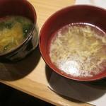 旬菜食健 ひな野 - 味噌汁と中華風スープ