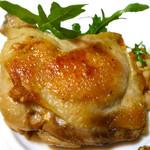 信玄鶏モモ肉のコンフィ トマトマスタードサラダ