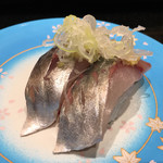 廻る富山湾 すし玉 - 「アジ」250円(税抜き)