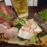 萬願亭 - 魚盛り