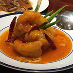 ブルーリリー 青百合飯荘  - 大海老の甘辛酢ソース