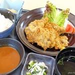 ねごろ庵 - 2017年5月 牛かつ定食【1000円】一般的なステーキ型ではありませんでした~(´▽`)