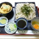 ヤマカそば - 料理写真:そば(冷)・小かつ丼セット 2017.7月