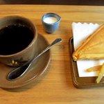 cafe陶遊 - 料理写真:陶遊焼き+コーヒー!