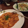 香満樓 - 料理写真:エビチリとかりかりシラスの大根サラダ
