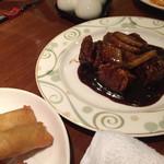 香満樓 - 黒酢 酢豚