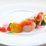 リストランテ リンコントロ - 四季折々の食材を贅沢にあしらう、前菜『カルパッチョ』