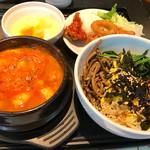 69546021 - 海鮮スンドゥブ (オリジナルカスタムビビンバ+前菜ビュッフェ付き)1000円