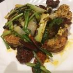 陳家私菜 - 「殻付海老のピリ辛香ばし揚げ」