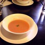 グリル マツモト - ランチのスープ(トマトのポタージュ)