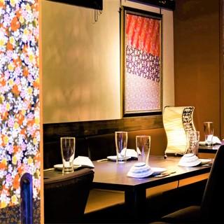◆和紙を散りばめた和モダンな個室◆大切な宴会やデート最適です