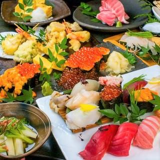 寿司屋の台所名物!90分食べ飲み放題コース