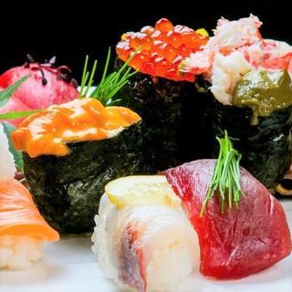 寿しやの台所名物!お寿司食べ放題+ソフトドリンク飲み放題付