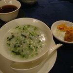 中国薬膳料理 星福 - ナズナ入りお粥