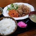 B級食堂 - B級食堂 生姜焼き定食700円