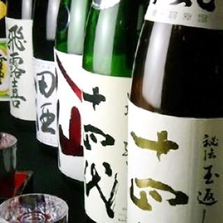 十四代、田酒、飛露喜ほか、人気銘柄の地酒が豊富!
