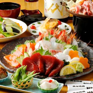 自慢の魚料理と旨い酒をたらふく楽しめる!豊富なご宴会プラン♪