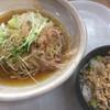 高坂サービスエリア(下り線)レストラン - 料理写真:越前風おろし蕎麦セット(780円)