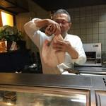 う越貞 - 3.5キロの真魚鰹と貞さん