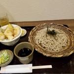 そば処 大庵 - 料理写真:ミニいか天丼とざるそば(大盛)