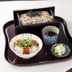 桜茶寮 - 鰻としらすの小丼ぶりと蕎麦セット