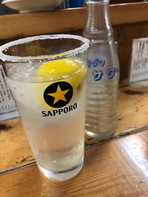 もつ焼 でん 水道橋店 - レモンサワー