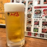 カープ鳥 - 2017年7月 生ビール(450円)