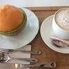ドゥドボワ - 料理写真:メロン、カフェラテ