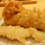 揚げたて天ぷら定食 まきの - カレイ天、鳥天