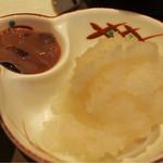 揚げたて天ぷら定食 まきの - 大根おろしとイカの塩辛