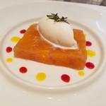 レストラン シャルム - デザート☆柑橘のテリーヌ&ライチのアイスクリーム
