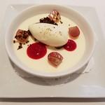 レストラン シャルム - 本日のデザート☆レアチーズクリーム&柚子のアイスクリーム