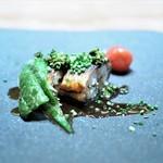 69583057 - 鰻の香り煎り焼き 山椒と甘醤油ソースで