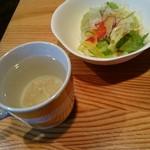 ホノルル食堂 - サラダ、スープ。