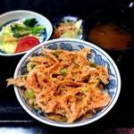 よし川 - (ランチ)桜えびの黄金丼¥926 2017.5.4