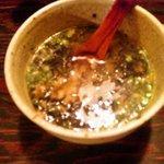 博多中洲ぢどり屋 - とりめしのスープがけ