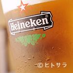 ミルキーウェイブ - よく冷えたハイネケンの生ビールもあります