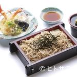 富寿し - サクッと揚がった天ぷらと香り高いそば『天ざる(富そば)』
